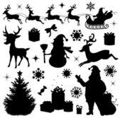 Vánoční kolekce. — Stock vektor