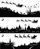 圣诞剪影. — 图库矢量图片