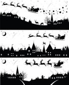 Vánoční siluety. — Stock vektor