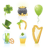St. Patrick's Day icons. — Stock Vector