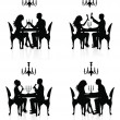Romantic dinner. — Stockvector