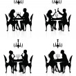 Romantic dinner. — Stock Vector