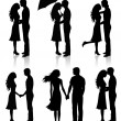 Stock Vector: Collection of couples.