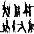 Dancing silhouettes. — Stock Vector #18679185