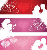 Valentine's day banners. — Stock Vector