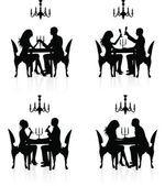 Romantic dinner. — Vetorial Stock