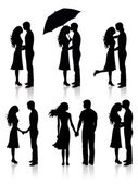 Collection of couples. — Stock Vector