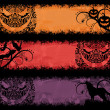 Set of a grunge halloween banners. — Stock Vector #18955333