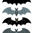 Set of a simple bats. — Stock Vector