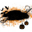 Royalty-Free Stock Vector Image: Grunge halloween banner with bats and pumpkins.