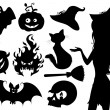Set of halloween icons. - Stock Vector