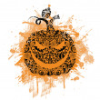 Pattern in shape of pumpkin. — Vector de stock #18955769