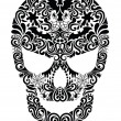 Pattern in a shape of a skull. — Stock Vector