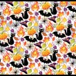 Stock Vector: Seamless pattern for Halloween.