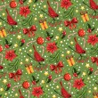Christmas seamless background. — Stock Vector #29684353