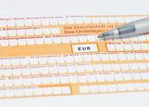 Standaard duits banking overschrijvingsformulier te vullen — Stockfoto