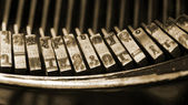 A closeup of old typewriter keys — Stock Photo
