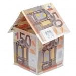 House made of euro money bills — Stock Photo #21136463