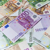Background image of Euro banknotes — Stock Photo