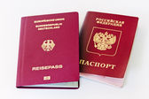 German and Russian passport — Stock Photo
