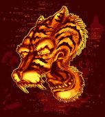 Tiger Tat — Stock Vector