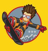 Snowboarder Kid — Stock Vector