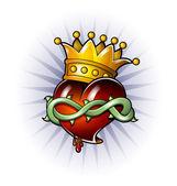King Heart — Stock Vector