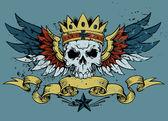 King Skull — Stock Vector