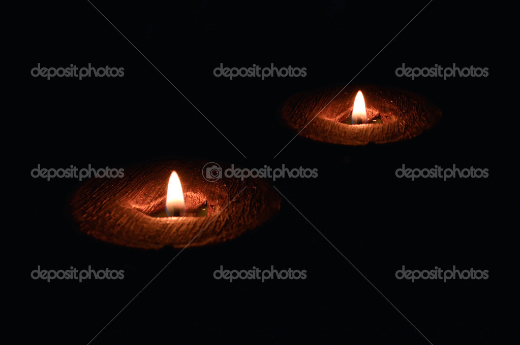 Candle lit  Stock Photo #14552471
