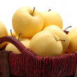 Close view of some tasty yellow apples — Stock Photo #14330135