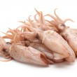 Small Freshly Steamed Squids — Stock Photo #14360427
