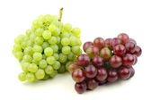 Fresh red grapes and green grape — Stock Photo