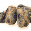 MULTICOLORED WOOL YARN SKEIN — Stock Photo #14612329