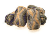 MULTICOLORED WOOL YARN SKEIN — Stock Photo