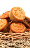 Sandwich biscuits with chestnuts — Stock Photo