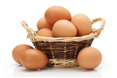 Brown eggs — Stockfoto