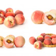 Ripe peach on white background — Stock Photo