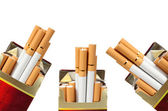 A few cigarettes on a white background — Stock Photo