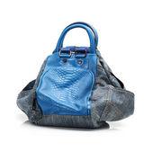 Bolsa de mezclilla azul — Foto de Stock