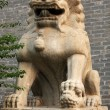 Stone lion Sculpture — Foto de Stock