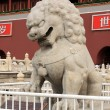 Stone lion Sculpture of Tiananmen Gate - Stock Photo