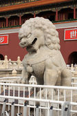 Stone lion Sculpture of Tiananmen Gate — Stock Photo