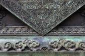Bronzen Leeuw base — Stockfoto