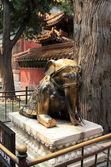 статуя древних слона — Стоковое фото