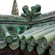 Roof at the forbidden city - Stock Photo