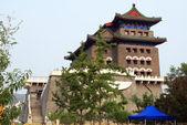 Qianmen lukostřelba tower, dříve přední brány císařské město, peking, čína — Stock fotografie