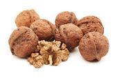 Walnuts on white background — Stock Photo