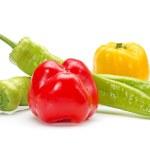 Hot Pepper on white background — Stock Photo