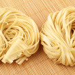 Stock Photo: Italipasttagliatelle nest