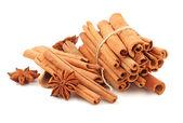 Cinnamon on white background — Stock Photo